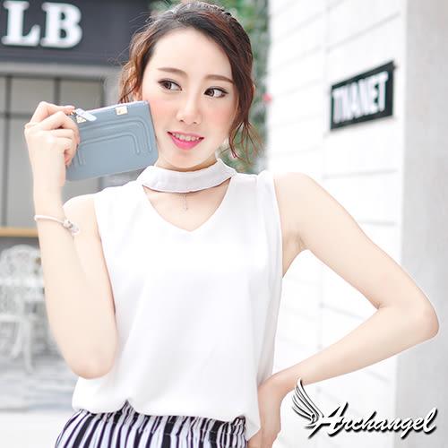 阿卡天使真皮簡約優雅實用卡包零錢包(多色)清新藍W831-BL