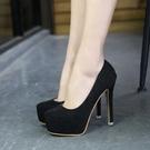 畢業謝師宴女鞋 春季新款亮晶晶超高跟單鞋性感婚鞋成人禮圓頭夜店公主女鞋