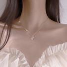 幸運四葉草項鏈女鎖骨鏈INS冷淡風純銀潮氣質韓版簡約小眾設計感