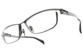 JAPONISM光學眼鏡 JP033 C02 (霧槍黑-槍黑) 紳士流線設計款 平光鏡框 # 金橘眼鏡