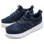 adidas 休閒慢跑鞋 Cloudfoam Ultimate 藍 白 舒適中底設計 低筒 女鞋 運動鞋 【PUMP306】 DB0606