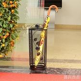 雨傘架 創意雨傘架酒店大堂家用長柄落地式雨傘收納架鐵藝雨傘桶收納筒 快速出貨