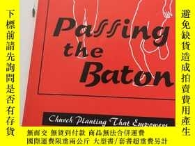 二手書博民逛書店Passing罕見The Baton—Church Planti