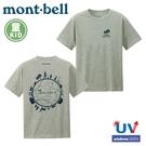 【Mont-Bell 日本 童 WIC.T 森之圈短袖排汗T恤《炭灰》】1114429/圓領衫/排汗衣