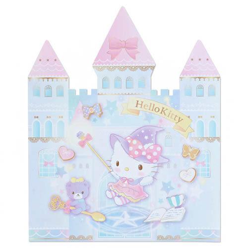 Sanrio HELLO KITTY魔法變色筆與城堡造型便條本組★funbox生活用品★_844101N