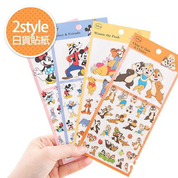 【日貨貼紙(2style)】Norns 迪士尼 米奇 米妮 奇奇蒂蒂 維尼 拍立得 貼紙