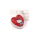 【震撼精品百貨】Hello Kitty 凱蒂貓~亮鑽滑鼠(紅)