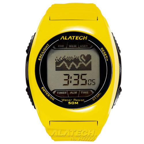 大毛生活館●ALATECH FB005Y 專業健身 心率錶 – 黃色