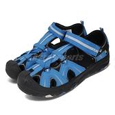 Merrell 戶外鞋 Hydro 藍 黑 中童鞋 大童鞋 女鞋 運動鞋 越野 登山 涼拖鞋【ACS】 MK262542