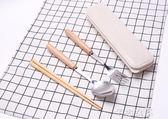便攜兒童寶寶筷子勺子叉子餐具套裝 成人學生木質三件套2件日式  芊惠衣屋