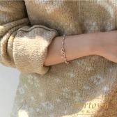 現貨 蝴蝶結手鏈韓版簡約百搭森系珍珠手飾【繁星小鎮】