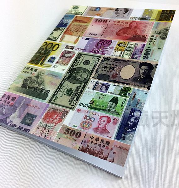【收藏天地】台灣紀念品*懷舊系列 世界各國鈔票筆記本