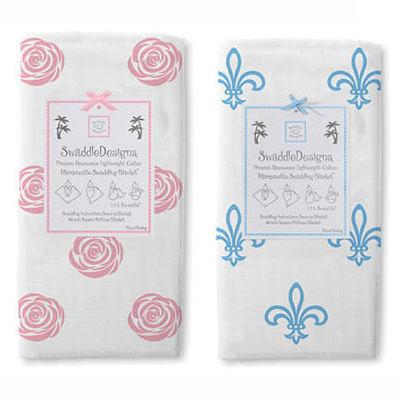 包巾/嬰兒包巾 美國 Swaddle Designs - 薄棉羅紗多用途嬰兒包巾 甜心玫瑰 #SD-490