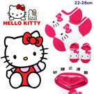 Hello Kitty 凱蒂貓 台灣製 船型襪 短襪 襪子 矽膠止滑隱形襪 成人襪子 22-26cm