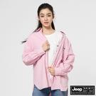 【JEEP】女裝素面休閒長袖襯衫-粉紅