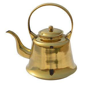 純 黃銅鐘式茶壺1.5升