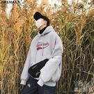秋冬季字母印花連帽衛衣男士ins寬鬆套頭上衣潮流休閒衣  『優尚良品』