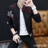 新款韓版修身印花棒球服潮流夾克外套LVV4470【KIKIKOKO】