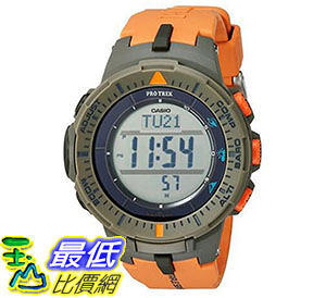 [美國直購] 手錶 Casio Mens ProTrek Triple Sensor Quartz Resin Automatic Watch Orange PRG-300-4CR