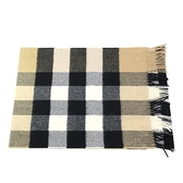 【南紡購物中心】BURBERRY Vintage 粗方格紋經典喀什米爾圍巾(卡其)