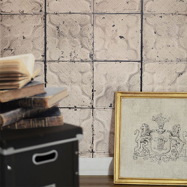 【進口牆紙】Brooklyn Tins by merci【訂貨單位48.7cm×10m/卷】荷蘭 仿真(fake) 磚紋 TIN-J3