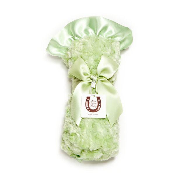 寶寶毯/寶寶被/嬰兒被/嬰兒毯/攜帶毯/彌月禮 Max Daniel - 美國製 玫瑰花苞系列 - 蘋果綠