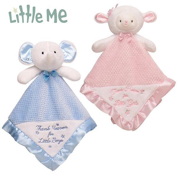 【南紡購物中心】美國《Little Me》安撫巾-小羊/大象