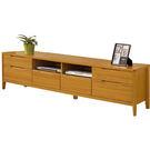 【森可家居】米堤柚木色7尺電視櫃 7ZX377-4 長櫃 木紋質感 日系 無印風 美式鄉村風