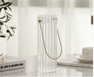 花瓶 手提金屬花瓶擺件客廳插花餐桌玻璃透明輕奢鮮花水養創意現代簡約【快速出貨八折下殺】