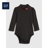Gap女嬰兒迪士尼刺绣长袖连体衣497552-暗夜黑