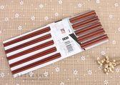 高檔家用筷子實木10雙紅檀鐵木雞翅木筷子家庭十雙純天然原木吾本良品