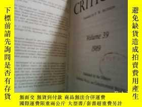 二手書博民逛書店Journal罕見of Literary Criticism19