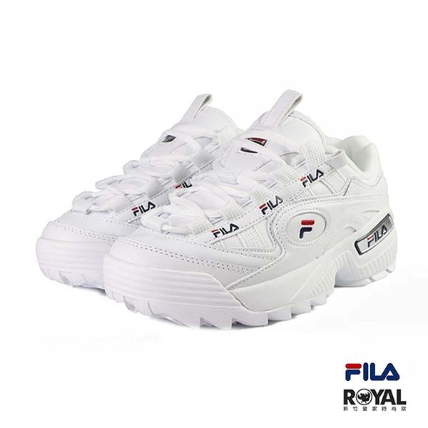 Fila 新竹皇家 D-Formation 白色 皮質 老爺 休閒鞋 女款 No.I9715