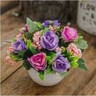 絹花干花花束塑料假花仿真花套裝擺件擺設裝飾 全館免運