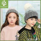 兒童毛線帽寶寶帽子秋冬女帽子男小孩保暖加絨針織帽童帽 蘿莉小腳ㄚ