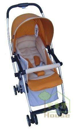 [家事達] Mother's Love  超輕量輕便雙向秒縮嬰兒手推車3.5KG-橘~可單手收合   特價