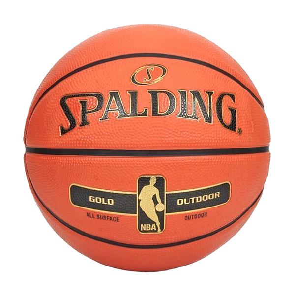 Spalding 17 金色 NBA [SPA83492] 籃球 7號 室內外 PU 控球佳 耐磨 附球針 球網 橘金