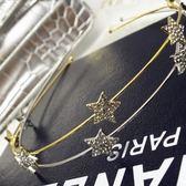 鑲鑽髮圈(任兩件)-閃耀大方五角星星女髮箍2款73gi27【時尚巴黎】