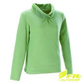 維特Fit 立領雙刷毛保暖衣 女 粉嫩綠