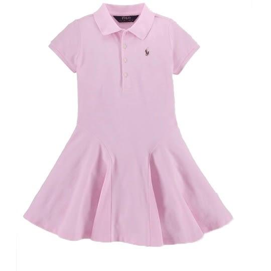 Polo Ralph Lauren polo杉連身裙短袖洋裝 粉色 | 女童 | 北投之家童裝【RA56488056】