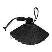 LOEWE 羅威 黑色牛皮扇子包 Fan Clutch Bag【二手名牌BRAND OFF】
