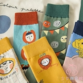 三雙裝 中筒襪流運動襪子韓國卡通搞怪中筒學院風男女【少女顏究院】