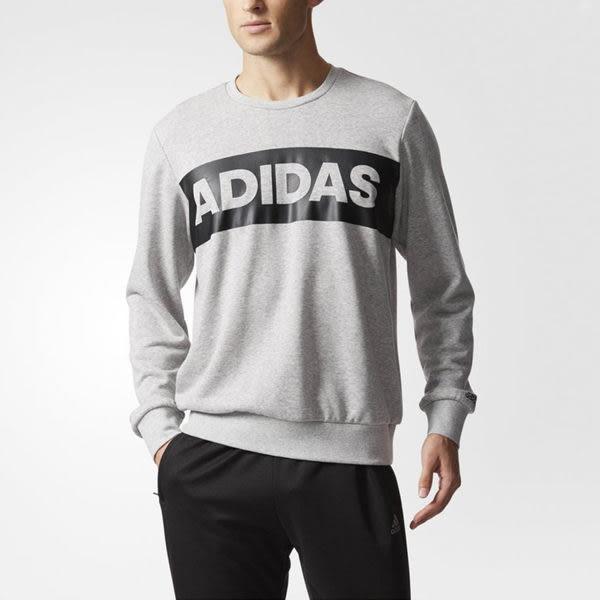 Adidas SWT GFX 男 灰 經典休閒長袖上衣 字母t 棉質 透氣 愛迪達 長T恤 CF4767