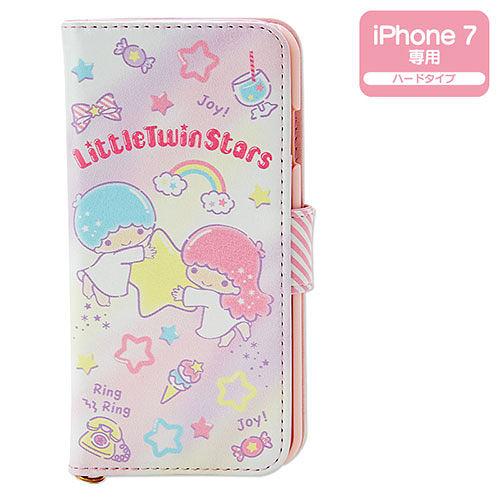 【震撼精品百貨】Little Twin Stars KiKi&LaLa 雙子星小天使~雙星仙子 iPhone7 PU皮革折式保護套(甜蜜小物)