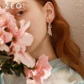 耳環 ZENGLIU韓國氣質幾何耳環女簡約三角形耳釘不規則耳墜個性耳飾品 城市科技