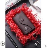 車鑰匙包男士女款通用鎖匙簡約小容量牛皮多功能家套袋扣大春季新品