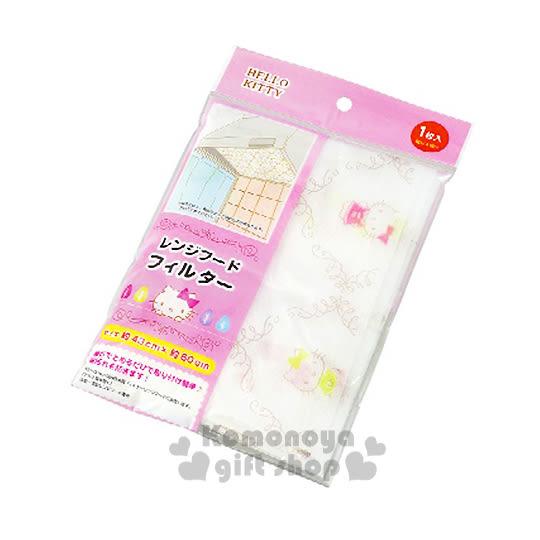 〔小禮堂〕Hello Kitty 日製抽油煙機過濾網《白.菱格紋.43x60cm》 4991203-17002