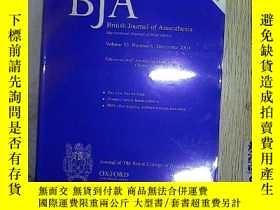 二手書博民逛書店BJA:罕見British Journal of Anaesth