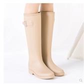 小鄧子簡約時尚雨鞋女成人韓國高筒水靴防滑女士水鞋膠鞋雨靴