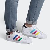 【折後$3280再送贈品】adidas Superstar 男女鞋 三線紅藍綠 三葉草 聖火 休閒鞋 舒適 FU9521